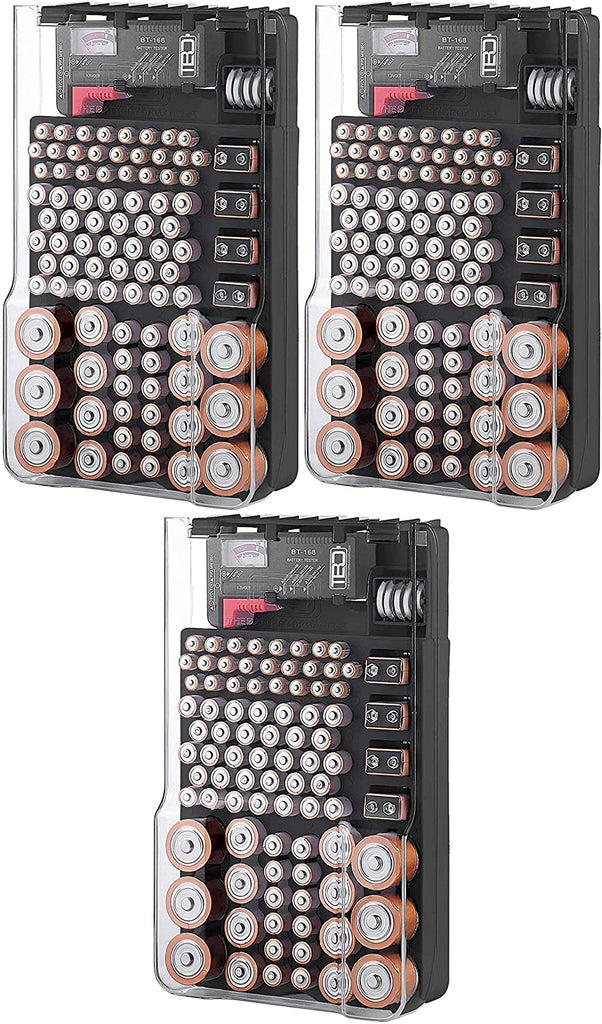Battery storage Organizer Includes a Removable  Battery Tester