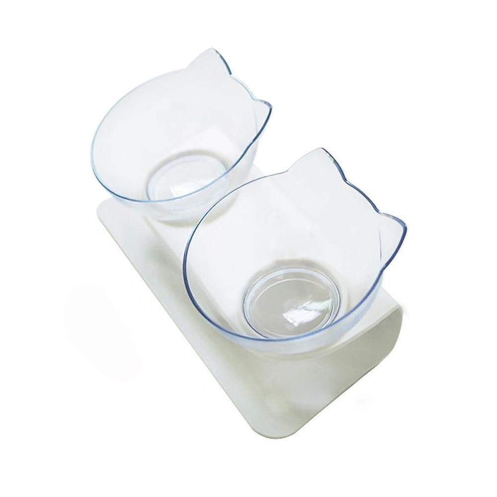 Anti-Vomiting Orthopedic Cat Bowl Anti slip Spine Protecting Feeding Bowl for Cat Dog - full