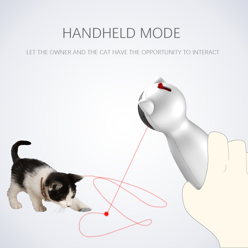 Funny Cat Toy Automatic Cat Toys Interactive Smart Teasing Pet LED Laser Funny