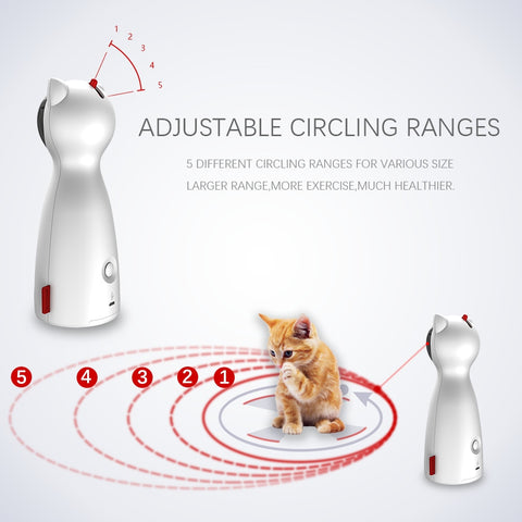 Image of Funny Cat Toy Automatic Cat Toys Interactive Smart Teasing Pet LED Laser Funny