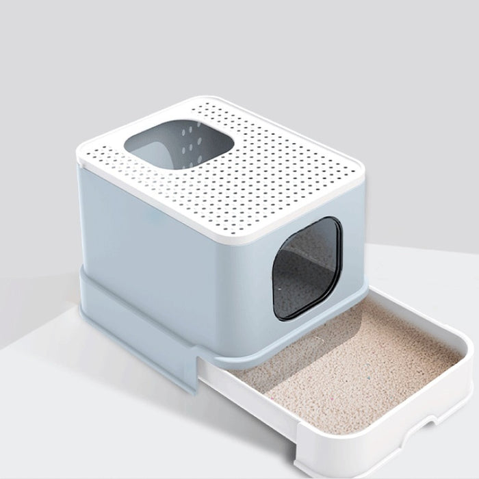 Cat Litter Box Top Entry Cat Sandbox