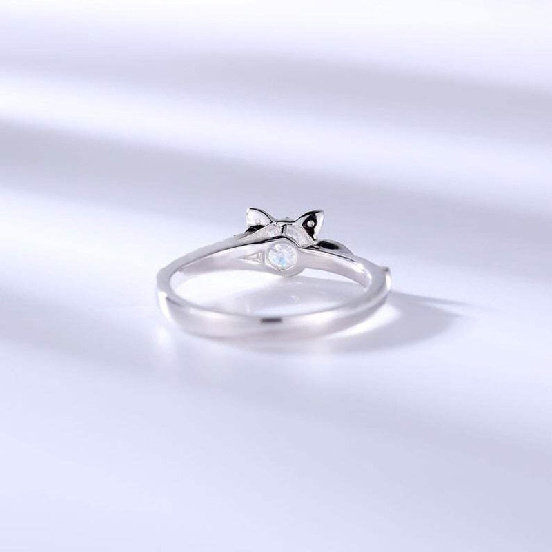 Sterling Cat Style Ring