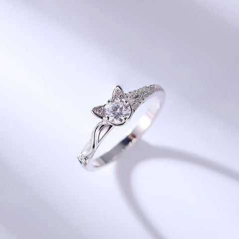 Image of Sterling Cat Style Ring