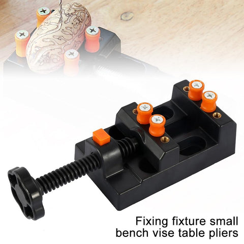 Image of Clamp On Table Bench Vise Tool Vice Muliti Funcational Table Vice Carving Bench - full