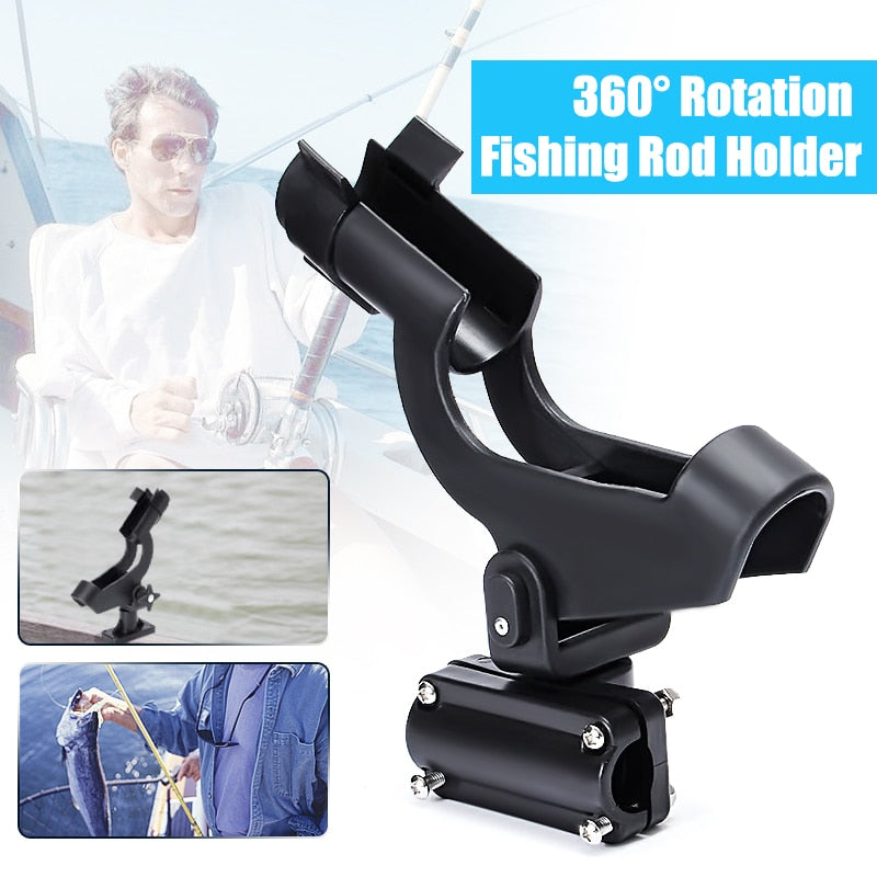 360 Rotation Fishing Rod Holder Fixed Holder Adjustable Boat Fence - full