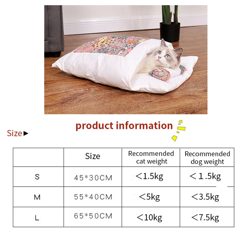 Cats Winter Bed Warm Sleeping Bag Small Pet Bed Pet Product