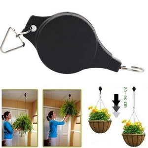 Retractable Pulley Plant Pots Hanging Pull Down Hanger - full