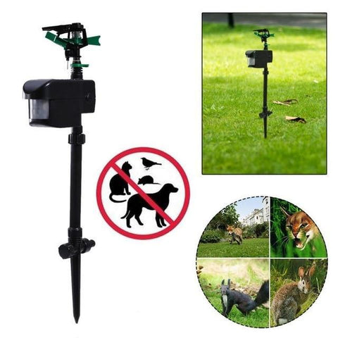 Image of Motion Activated Sprinkler Water Scarecrow Pigeon Repellent - full