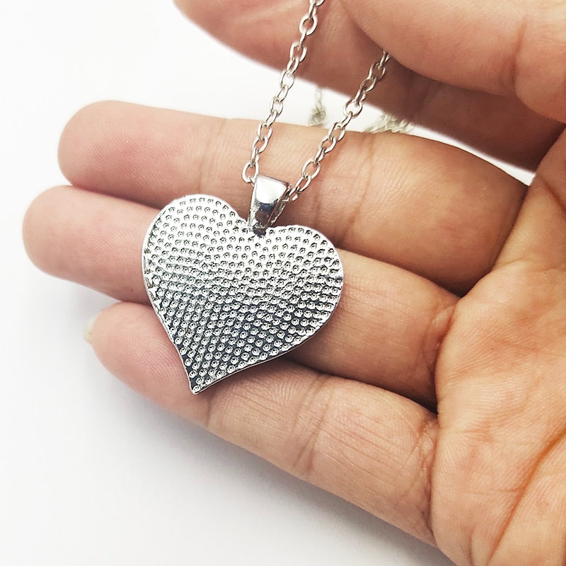 To My Daughter Love heart Necklace - full