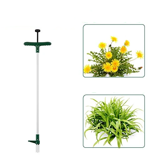 Stand Up Weeder and Weed Puller, Stand up Manual Weeder Hand Tool with 3 Claws,