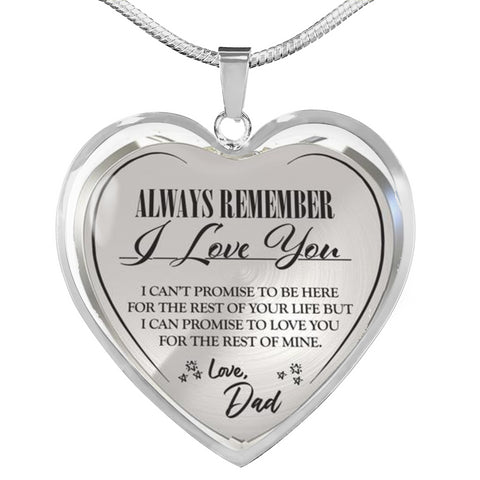 Image of to my dad heart necklace
