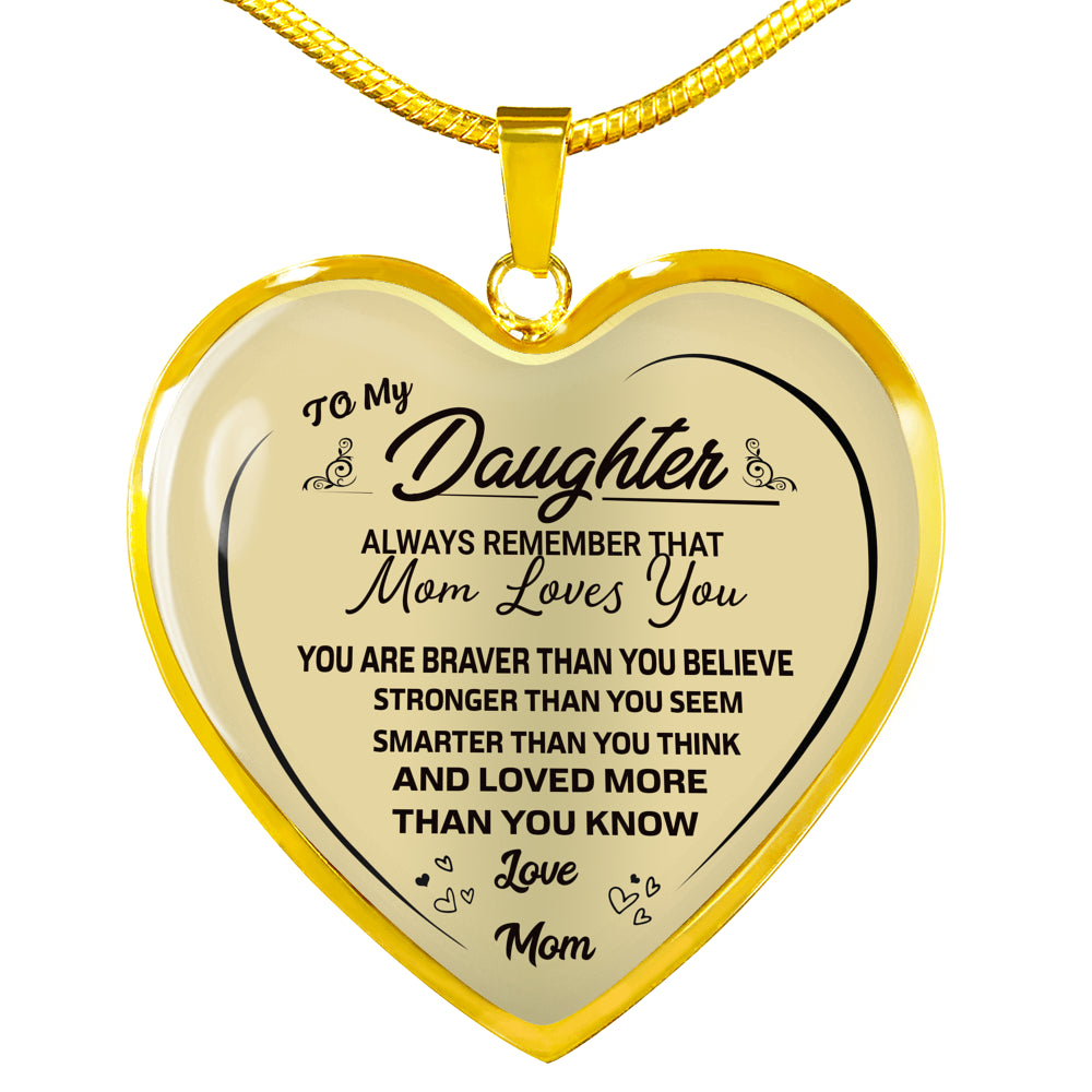 To My Daughter Heart Necklace - full