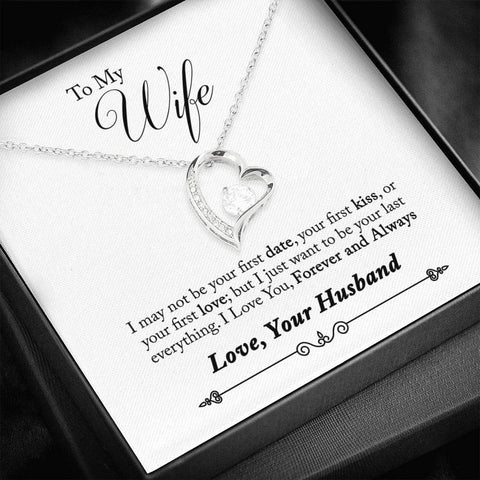 Image of To My Wife Necklace Quotes Last Everything
