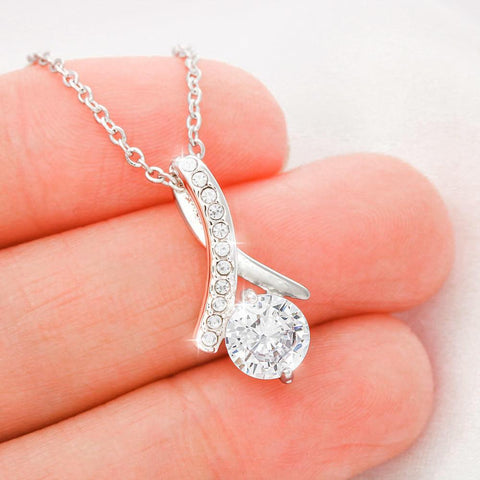 Image of TO MY GRANDDAUGHTER - WHITE GOLD NECKLACE