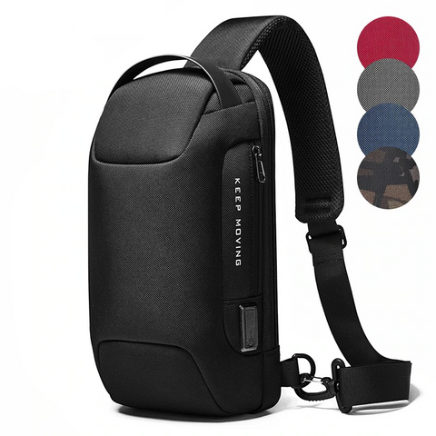 Image of Sling Bag Backpack Sport Travel Cross Body Chest Pack Waterproof Anti-theft Shoulder Bag with USB