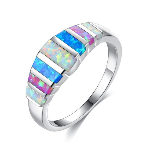 Image of Rainbow Opal Stone Rings