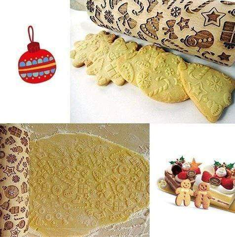 Image of Christmas Rolling Pin,Rolling Pins
