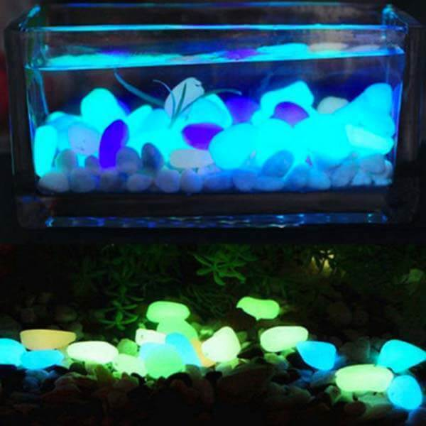 Glow-in-the-Dark Garden Pebbles Night Stones - full