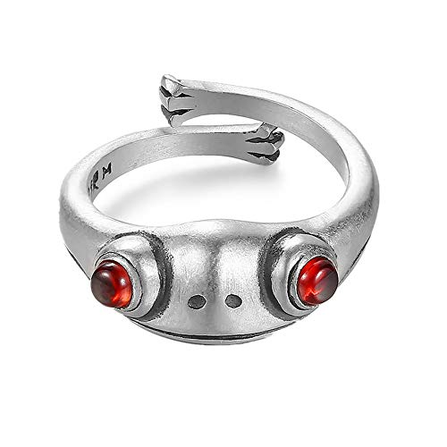 Frog Ring Real Sterling Silver Frog Open Rings for Women Vintage Cute Animal Finger Ring