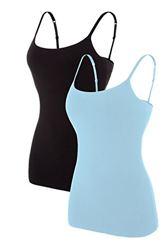 Camisole with Shelf Bra,Strap Tank Tops|Long Length Tank