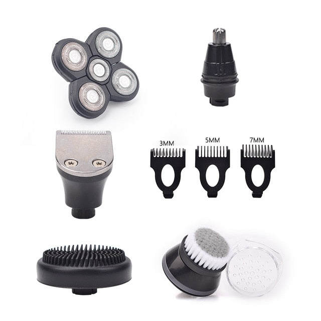 5 In 1 Head Shavers, Skull Shaver,  Facial Brush