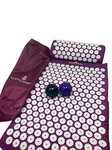 Image of Yoga Mate Acupressure Mat and Pillow Imrpoved Sleep and Less Stress