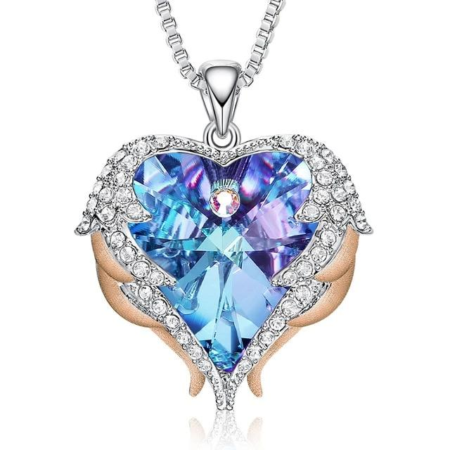 To My love! Swarovski Crystal Pendant,Love Heart Necklaces