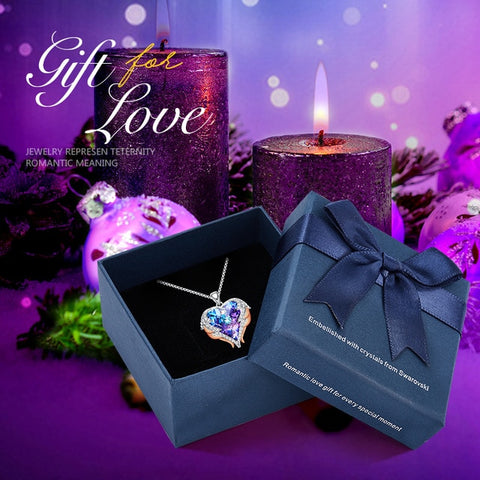 Image of To My love! Swarovski Crystal Pendant,Love Heart Necklaces