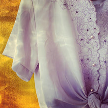 Load image into Gallery viewer, Vintage Lilac Embroidered Blouse