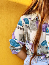 Load image into Gallery viewer, Vintage Blouse - 80's Surf Shirt