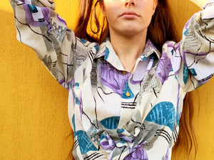 Vintage Blouse - 80's Surf Shirt