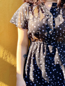 Vintage Dress - Micro Palm Trees