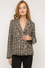 Load image into Gallery viewer, Frayed Hem Tweed Blazer