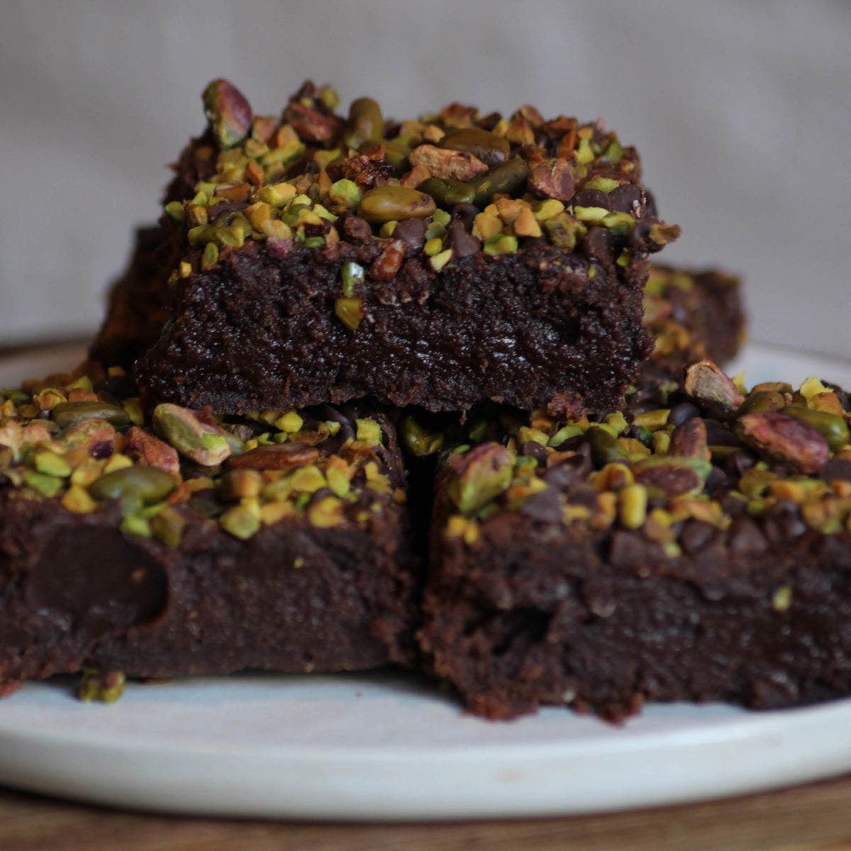 Brownie chocolat pistache / lot de 3