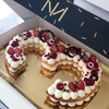 Number ou letter cake FRUITS ROUGES 8/10 parts
