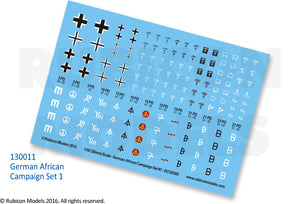German African Campaign Set 1 Decal Sheet - 130011