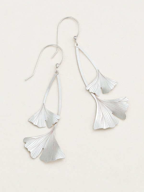 Ginkgo Drop Earrings