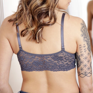 Seamless Scoopneck Bra with Lace Back