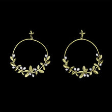 Load image into Gallery viewer, Flowering Thyme Hoop Earrings