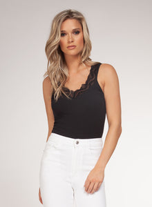 Sleeveless Bodysuit, Multiple Colors