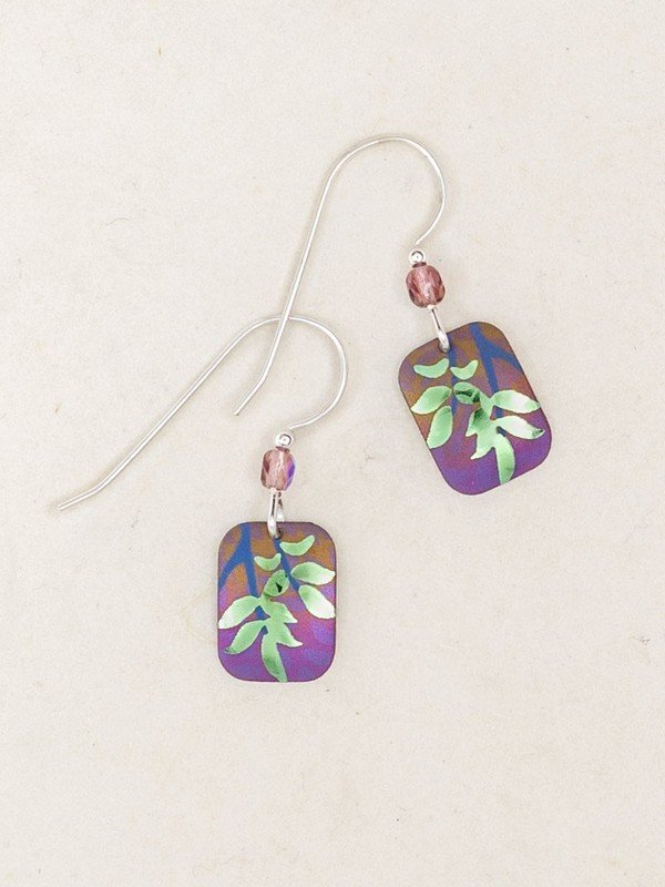 Evergreen Leaf Earrings