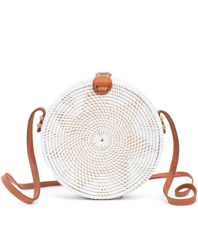 White Delight Rattan Bag