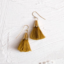 Load image into Gallery viewer, Hebba Cone Tassel Earring