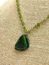 Load image into Gallery viewer, Chrome Diopside and Peridot Statement Necklace