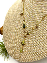 Load image into Gallery viewer, Labradorite, Andalucite, Tourmaline and Smoky Quartz Statement Necklace