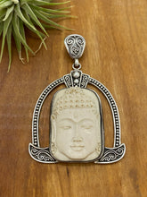 Load image into Gallery viewer, Mastodon Tusk Carved Buddha Statement Pendant