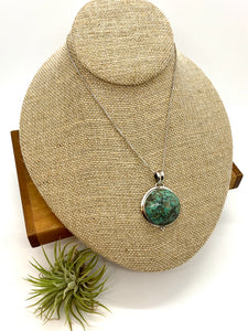 Rich Turquoise Statement Pendant