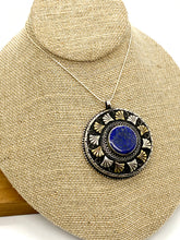 Load image into Gallery viewer, Statement Pendant Centered on Lapis and Papyrus