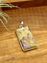 Load image into Gallery viewer, Unique Earth-Tone Coral Fossil Pendant
