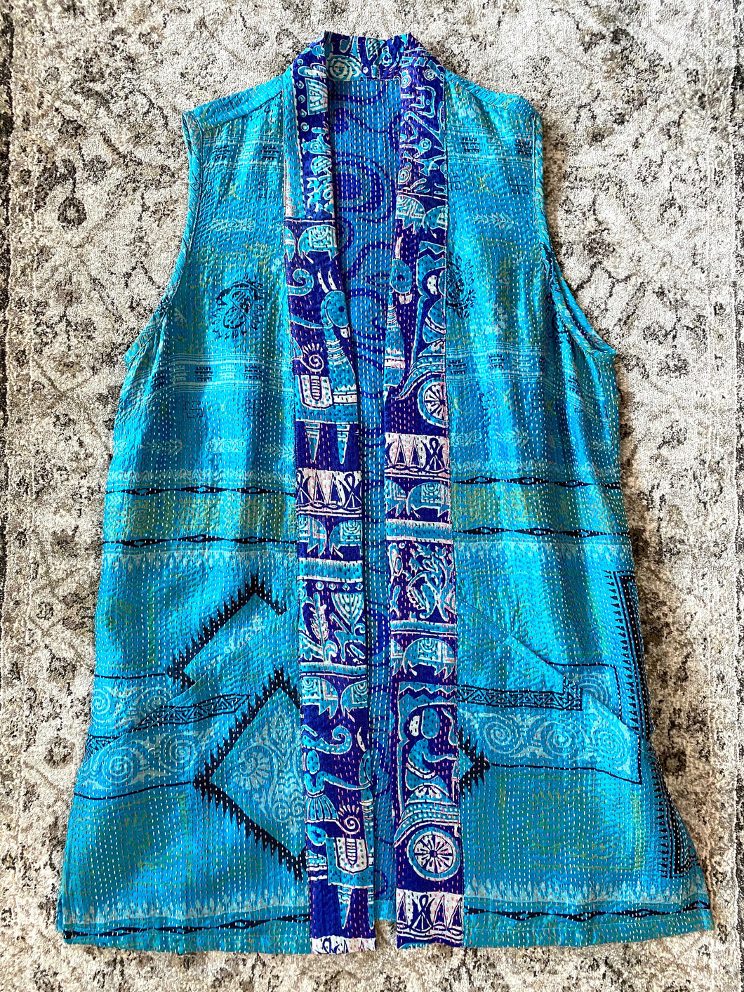 Moonlight Kantha Vest